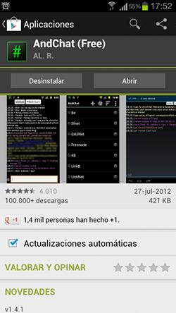 AndChat en Google Play